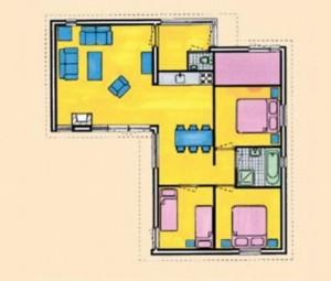 plattegrond vakantiehuis
